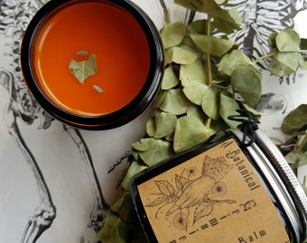 Herbal muscle, joint & temple balm | Natural pain relief with Arnica, Cayenne, Clove, Eucalyptus + White Willow | by A Botanical Grimoire