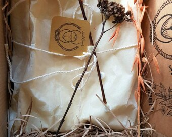 Yoga, wellness, self- care gift set | Macrame yoga mat carry sling + cleansing mat spray | Collab by Knot And Scarab X A Botanical Grimoire