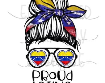 Venezuelan Latina pride image for sublimation