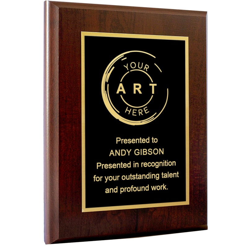 Personalized Engraved Plaques and Awards and Corporate Awards Thank You Sports Great for Retirement Military Recognition School