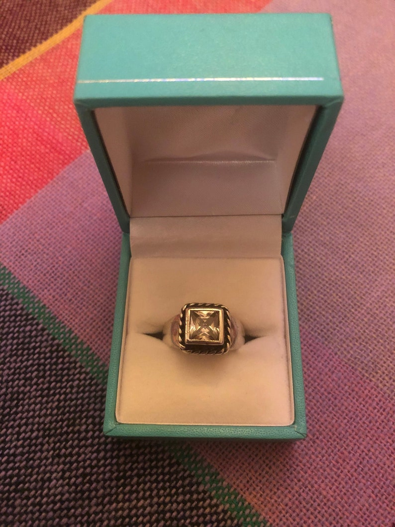 Vintage Sterling Silver Ring with Crystal Type Stone