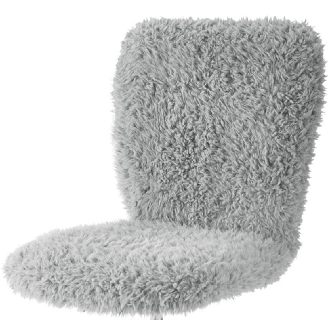 Faux Fur Armless Swivel Task Office Chair