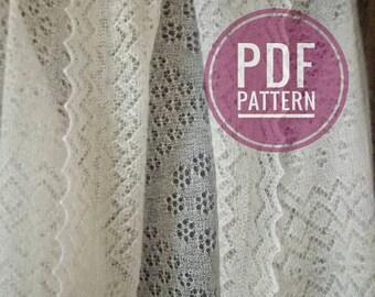 Pattern knitting shawl, Orenburg shawl, Lace knitted square shawl, Pattern PDF, Chart, Gift to the knitter