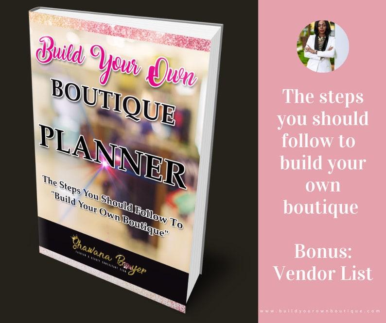 BOOK Build Your Own Boutique Planner  VENDOR LIST image 0