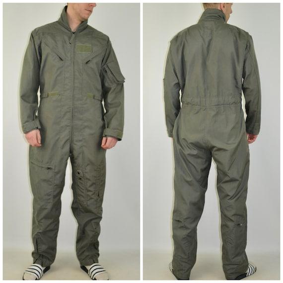 Vintage Aircrew Suit Size Medium Large vtg green a