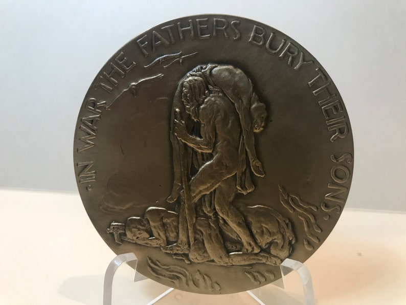 Peace and War by Reputed sculptor Chester A Fathers and Sons Beach Society of Medalists