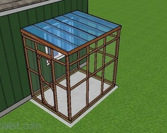 6x8 Lean to Attached Catio Plans