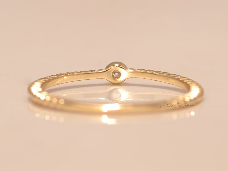 Dainty Ring. Gold Twist Stack Ring Must Have Ring Thin Band Ring 14K Gold Plated Stack Ring in Sterling Silver Ring For Her
