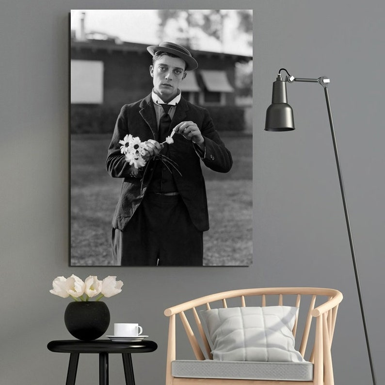 No Frame Buster Keaton Movie Star Poster Canvas Painting Wall Art Poster Home Decor