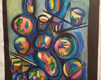 Still life, 2020, acrylic color on canvas, 70 x 100 cm