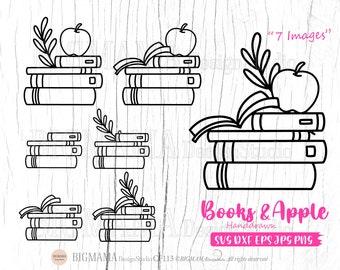 Book lover svg,Books svg,outline,Reading,svg bundle,DXF,Apple, Librarian,Cut file,Cricut,Silhouette,Commercial use,Instant download_CF113