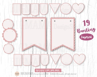Bunting SVG,Bunting Banner svg,Bunting Flags,Bundle,Gardland,scalloped,DXF,PNG,Cricut,Silhouette,Commercial use,Instant download_CF65