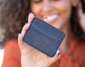Personalized Front Pocket Wallet, Mens Leather Card wallet, Leather Front Pocket Wallet, 3rd Anniversary Wallet, Handmade Wallet