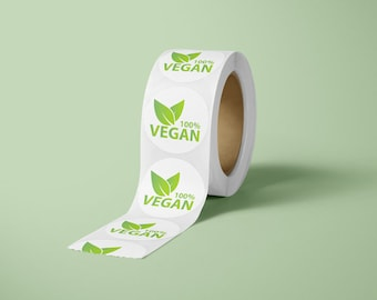 Vegan Product Label Sticker