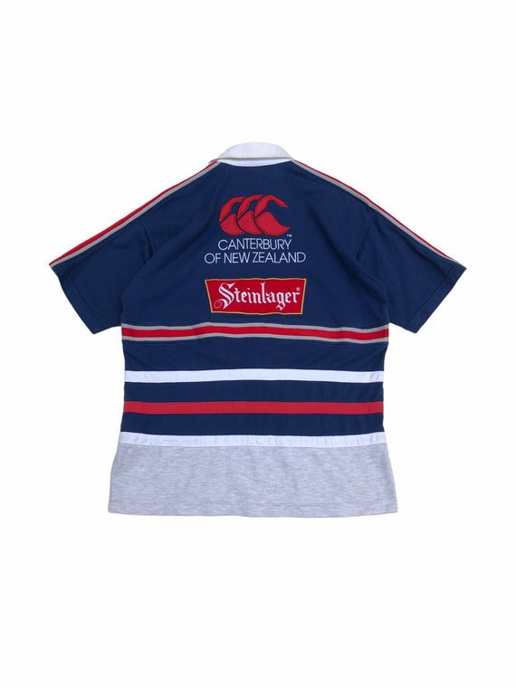 Vintage Canterbury Steinlager Rugby Polo Shirt