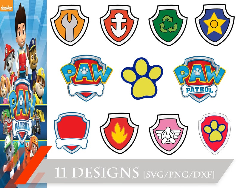 Paw Patrol svg png Paw Patrol svg files for cricut dxf Paw Patrol Badge bundle svg Paw Patrol svg clipar png dxf