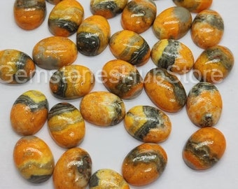 Size 18x13mm To 18x12mm Natural Bumblebee Jasper Faceted Pear Shape Briolettes 10 Pieces