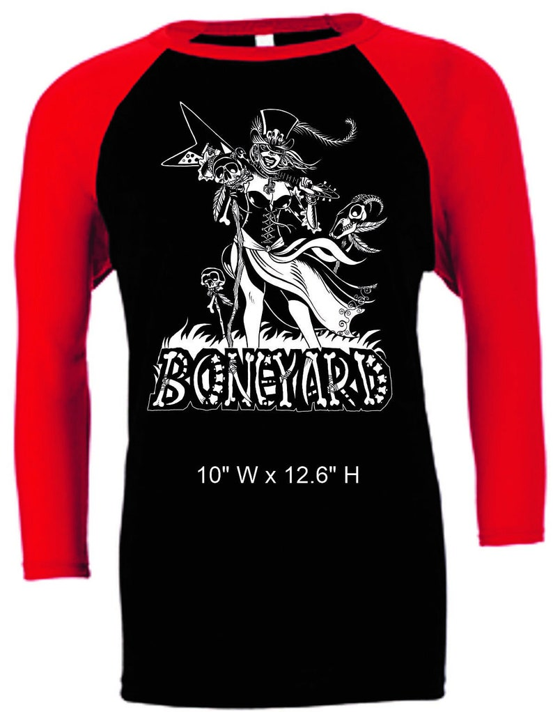 Unisex Black w/ Red Sleeved Baseball Shirt image 1
