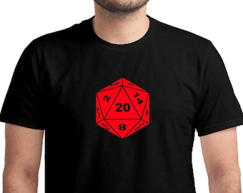 D20 Dice T-shirt, Unisex, Board Games, Gift For Him, Gift For Her