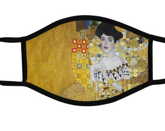Gustav Klimt Face Mask, Painting, Reusable cotton and polyester, 2 layers, Comfortable fit, Reversable, Breathable, Washable
