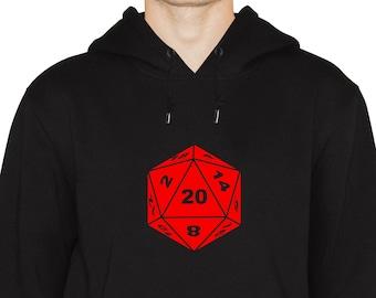 D20 Dice Hoodie Unisex, Gamers, Gift For Geeks