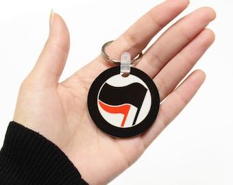 Antifa Keychain, Key Accessories, Indelible print