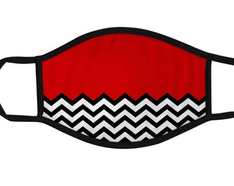 The Black Lodge Face Mask, Twin Peaks, Reusable cotton and polyester, Funny, 2 layers, Comfortable fit, Durable, Breathable, Washable