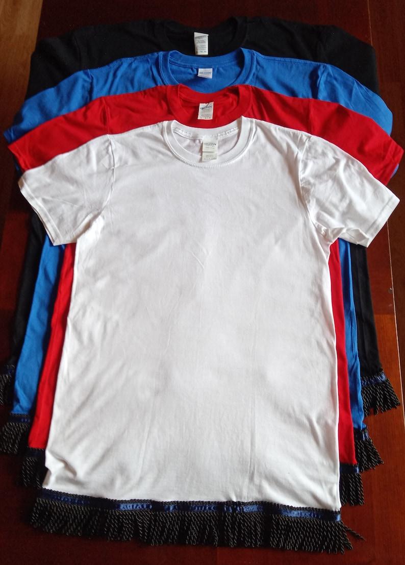 Made to Order Bundle 4 Hebrew Israelite Shirt with White or Black Fringes