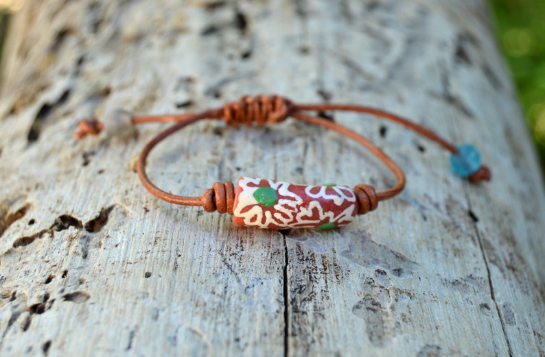 Leather bracelet set best friend gift boho jewelry leather bangle surfer bracelet festival bracelet Beaded bracelet set