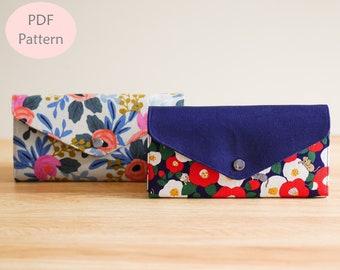 Amelia Envelope Wallet, Envelope Wallet, Women Wallet, Women Wallet Pattern, Sewing Pattern, Wallet Pattern, Digital Download