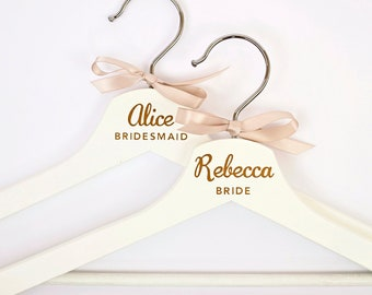 Personalized Wedding Hanger Bride Bridesmaid