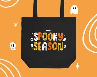 Spooky Season reusable canvas eco tote bag