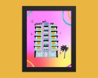 Art Deco Architecture Print | Miami Art Deco Building Print | Miami Style |  Framed Print