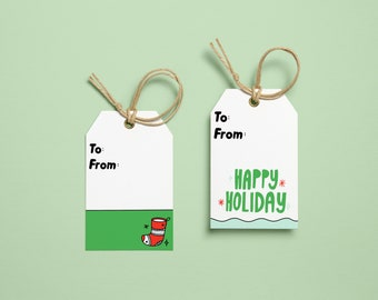 Holiday instant download printable gift tags