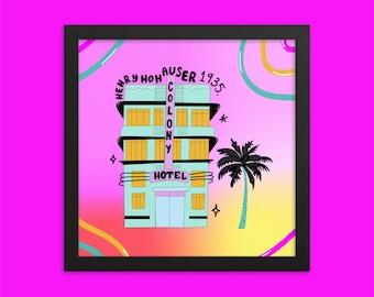 Art Deco Building Print | Miami Style | Art Deco Architecture Framed Print