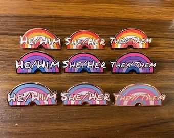 Pride Pronoun Pins