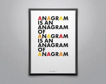 Anagramm Plakat Etsy