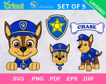 paw patrol chase svg