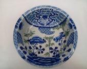 Japanese Imari Blue and White Porcelain Serving Bowl.
