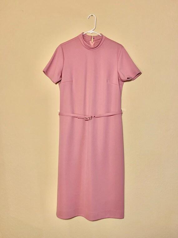 Vintage 1970s Dress Suit with Belt - Light Rose