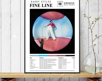 Harry Styles Poster / Fine Line Poster / Album Cover Poster / Print Wall Art / Custom Poster / Home Decor / TPWK treat people with kindness