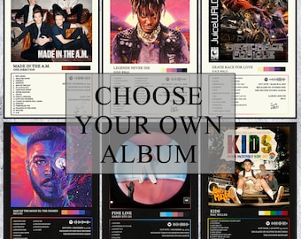 Custom Album Cover - Personalised Album Cover Poster - Choose Your Own Album Poster - Custom Album Poster Print - Wall Art Décor Print