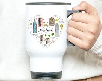 Mug Isotherme New York/Mug isotherm personalized/New York/mug first name/mug trip