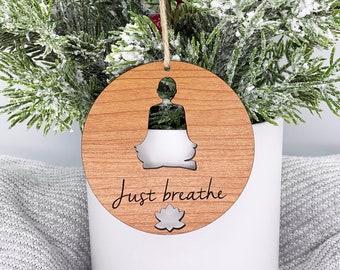 Yoga Personalized Christmas Ornament