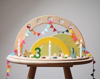 Seasonal Table Wooden Decoration Waldorf, Advent Calendar, Advent Wreath, Crib, Family Rituals