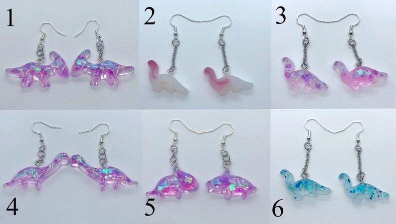 cute dinosaur resin earring