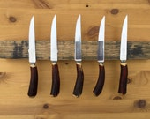 Magnetic Whisky Barrel Stave Knife Rack *Knives Not Included*