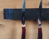 Magnetic Whisky Barrel Stave Knife Rack, Stormy Minch Tweed *Knives Not Included*