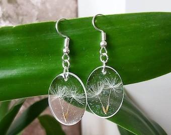 Summer earrings Dandelion earrings Summer lovin Gift for her Dandelion stud earrings Unique accessories