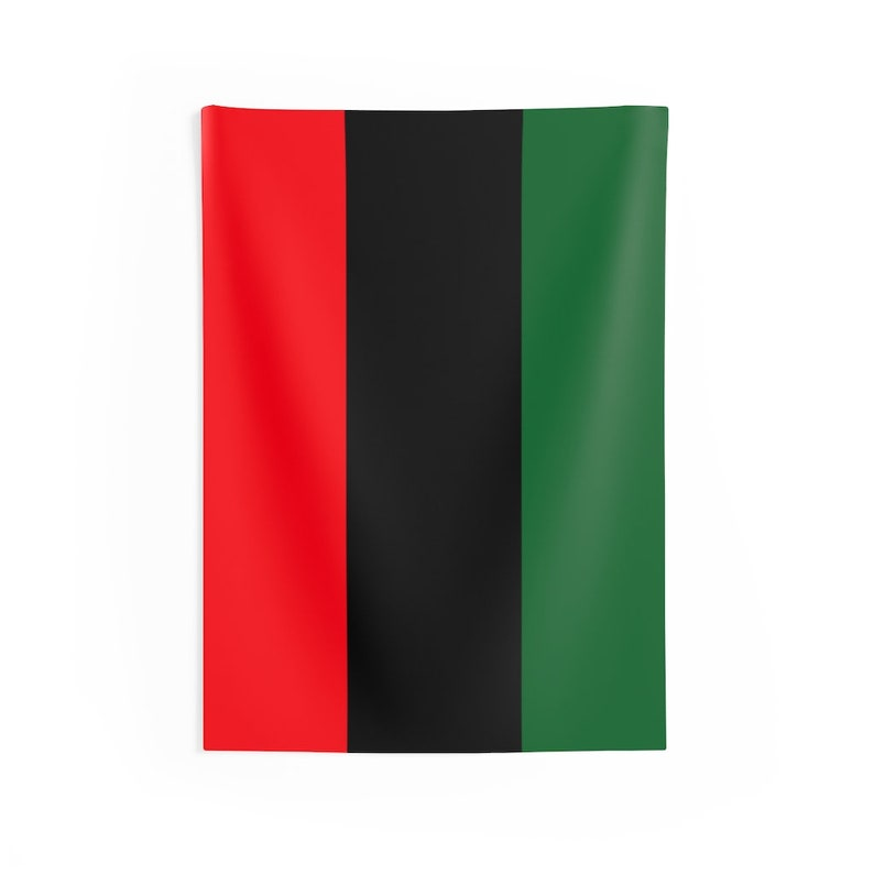 Large Red Black Green Flag  African American Flag  The image 0